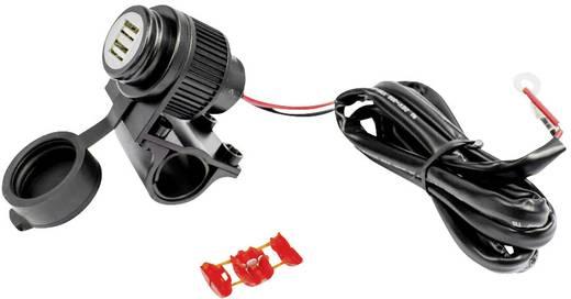 Albrecht 73700, USB kettős dugaszoló aljzat motorkerékpárhoz, Quadhoz, és további, 12 - 24 V-os járműhöz, USB aljzat