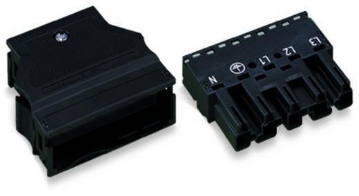 Hálózati csatlakozó dugó, egyenes, pólusszám: 5, 25 A, fekete, WAGO 770-115 25 db