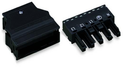 Hálózati csatlakozó alj, egyenes, pólusszám: 5, 25 A, fekete, WAGO 770-105 25 db