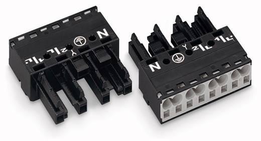 Hálózati csatlakozó alj, egyenes, pólusszám: 4, 25 A, fekete, WAGO 770-204, 50 db