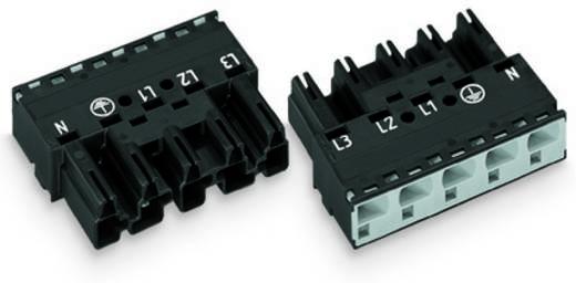 Hálózati csatlakozó dugó, egyenes, pólusszám: 5, 25 A, fekete, WAGO 770-415, 50 db