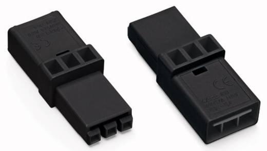 Hálózati köztes alj, pólusszám: 3, fekete, WAGO 890-603, 50 db