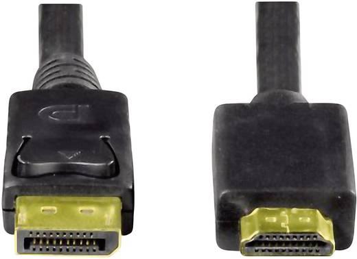 DisplayPort / HDMI csatlakozókábel [1x DisplayPort dugó - 1x HDMI dugó] 1,8 m, fekete, Hama 54594