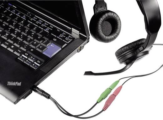 Jack audio csatlakozókábel [1x Jack dugó, 3,5 mm-es - 2x Jack alj, 3,5 mm-es], 0,1 m, fekete, Hama