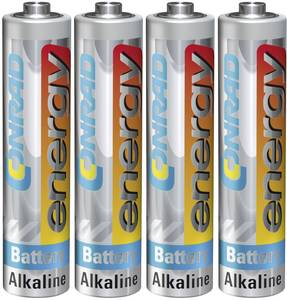 Mikroelem AAA, alkáli mangán, 1,5V, 4 db, Conrad Energy  Conrad energy