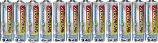 Ceruzaelem AA, alkáli mangán, 1,5V, 12 db, Conrad Energy LR06, AA, LR6, AAB4E, AM3, 815, E91, LR6N