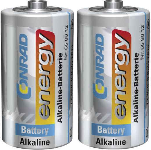 Baby elem C, alkáli mangán, 1,5V, 2 db, Conrad Energy LR14, LR15, C, AM2, MN1400, 814, E93, LR14N, R14, BA3042, UM2
