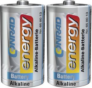 Góliát elem D, alkáli mangán, 1,5V, 2 db, Conrad Energy  Conrad energy