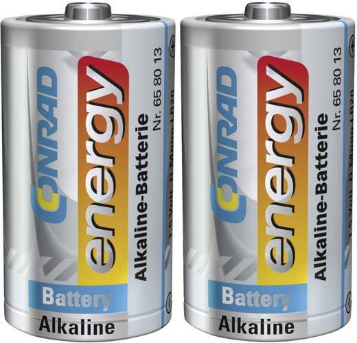 Góliát elem D, alkáli mangán, 1,5V, 2 db, Conrad Energy LR20, D, AM1, XL, MN1300, 813, E95, LR20N, 13A