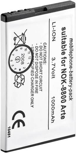 Goobay Lítiumion Mobiltelefon akku 850 mAh Nokia mobiltelefonokhoz (Megnevezés: eredeti akku: BL-4U)