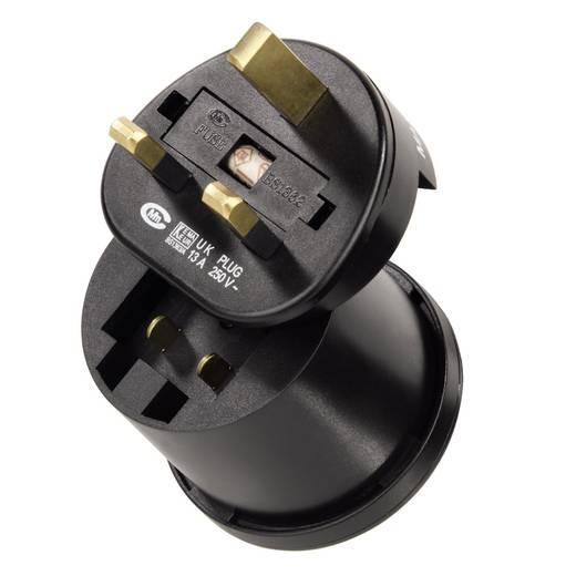 Úti adapter készlet 3 db dugóval USA, Kína, és UK csatlakozókhoz, Globetrotter Hama 00047762