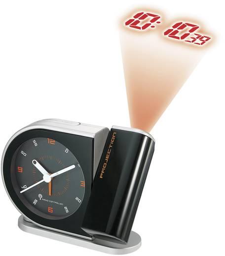 Rádiójel vezérelt analóg/digitális kivetítős ébresztőóra, 150x144x38 mm