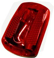 Elemes LED-es lámpa, felcsíptethető elemes villogó, kerékpár hátsó lámpa, piros színű DR-34