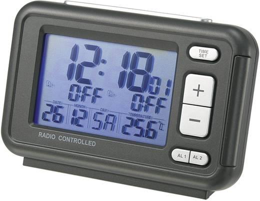 Rádiójel vezérelt digitális ébresztőóra, nagy kijelzővel, 116x70x38 mm, RC367 GREY