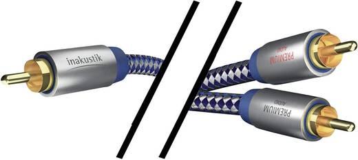 RCA Y elosztó kábel, 1x RCA dugó - 2x RCA aljzat, 3 m, aranyozott, kék/ezüst, Inakustik 671920
