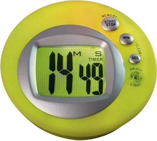 Digitális rövididejű visszaszámláló óra, időzítő, színes fény jelzéssel, Ø80x40 mm, 4901