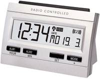 Rádiójel vezérelt digitális memo-ébresztőóra, 103x69x48 mm, ezüst, Techno Line WT 87 Techno Line