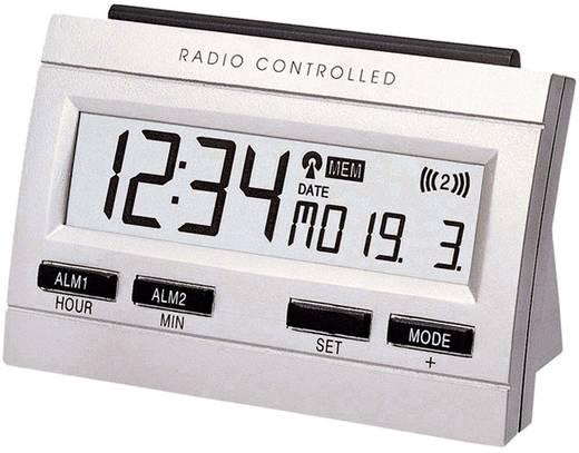 Rádiójel vezérelt digitális memo-ébresztőóra, 103x69x48 mm, ezüst, Techno Line WT 87