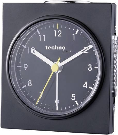 Analóg kvarc ébresztőóra, 75x85x45 mm, fekete, Techno Line Geneva Q
