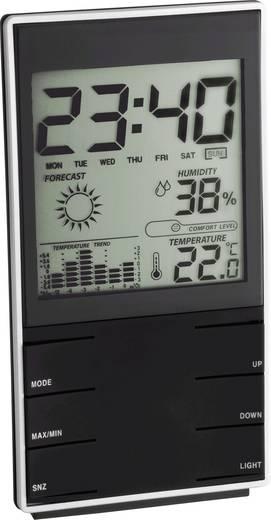 Digitális időjárásjelző állomás, komfort jelzés, fekete, TFA 35.1102.01