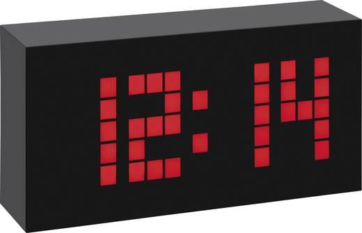 Rádiójel vezérelt LED világítós digitális ébresztőóra, nagy kijelzővel, 174x90x50 mm, TFA Time Block 60.2508