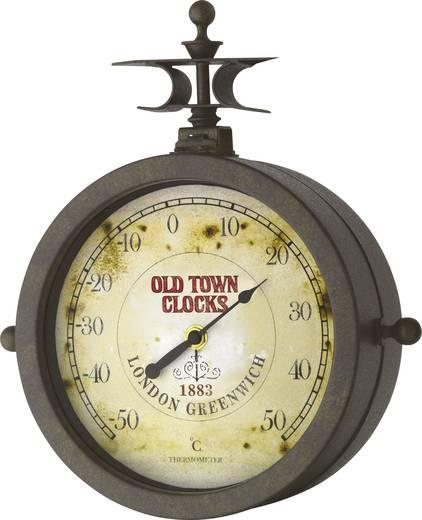 TFA Old Town nosztalgia analóg kvarc falióra és hőmérő, Ø 20,5 x 29,5 cm