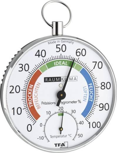 Felakasztható analóg hő és páratartalom mérő, thermo/hygrométer Ø100 mm TFA 45.2027