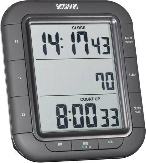 Digitális visszaszámláló óra, időzítő, 3 soros kijelzővel, 103x121x20 mm, Eurochron EDT 9000, KW-9161