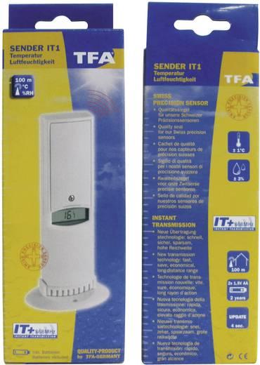 Kiegészítő hőmérséklet érzékelő TFA 30.3144 IT-hez 868 MHz, 0,1 °C, -40... +60 °C