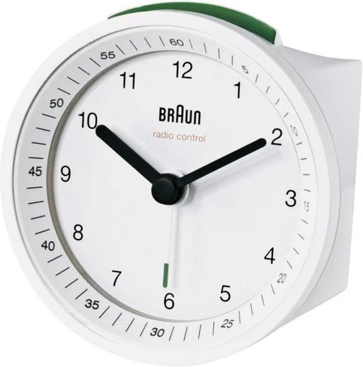 Braun analóg rádiójel vezérelt ébresztőóra, 80x80x56 mm, fehér