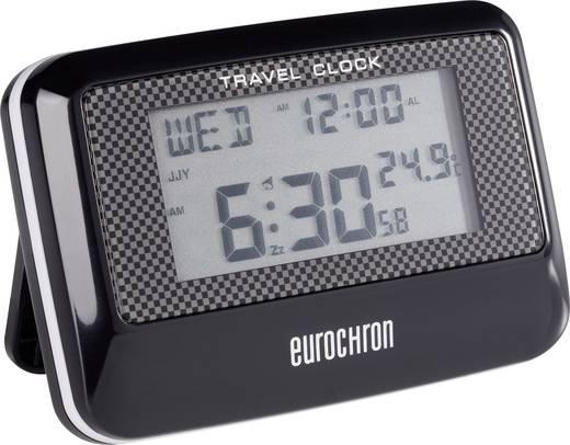 Eurochron Multiband EFW 200 T rádiójel vezérelt digitális úti ébresztőóra hőmérővel, 88x60x20 mm, C8263A