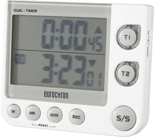 Kettős digitális visszaszámláló óra, időzítő, 90x76x21 mm, Eurochron EDT 4002