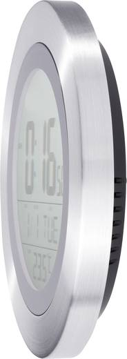 Digitális rádiójel vezérelt falióra, beltéri hőmérséklet kijelzéssel Ø 204x32 mm, KW 9092