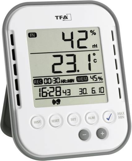 Digitális hőmérő és páratartalom mérő adatgyűjtő funkcióval, TFA KlimaLogg Base, 30-5022
