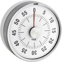 Konyhai időzítő, visszaszámláló óra, mechanikus timer, 60 perces, fehér színű TFA Dostmann Puck 38-1028-02 TFA Dostmann