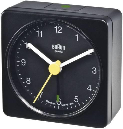 Braun analóg kvarc ébresztőóra, 56x56x31 mm, fekete