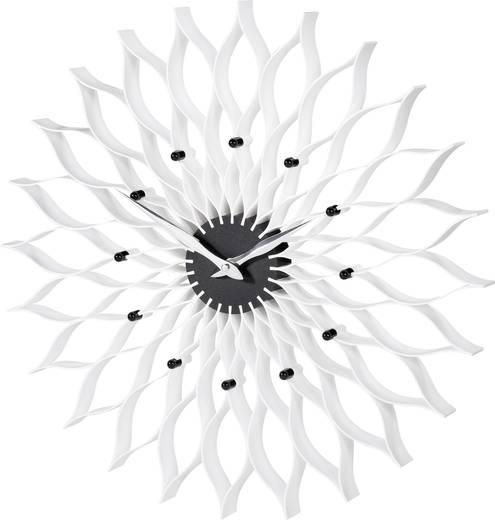 TFA Lotus analóg kvarc falióra, Ø 50 cm, fehér/fekete/króm