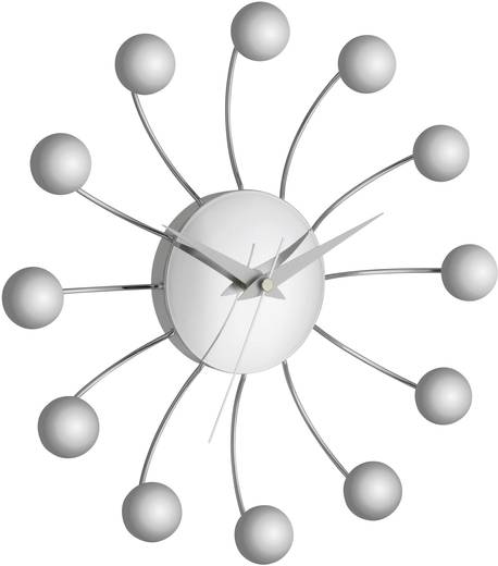 TFA Spider analóg kvarc falióra, (Ø x Mé) 28.5 cm x 4.5 cm, ezüst