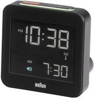 Rádiójel vezérelt digitális ébresztőóra, 75x75x45 mm, fekete Braun Multiband XL  Braun