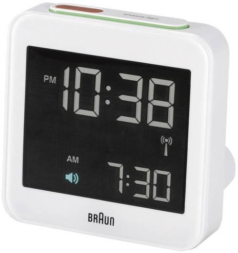 Braun Multiband XL rádiójel vezérelt digitális ébresztőóra, 75x75x45 mm, fehér