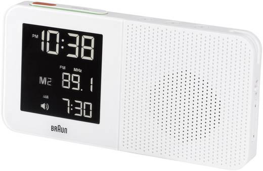 Braun rádiójel vezérelt digitális ébresztőóra rádióval, 180x90x45 mm, fehér
