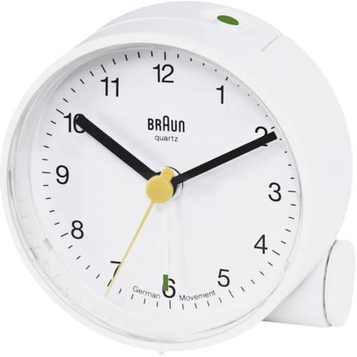 Braun analóg kvarc ébresztőóra, Ø 68x35 mm, fehér