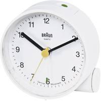 Braun analóg kvarc ébresztőóra, Ø 68x35 mm, fehér Braun