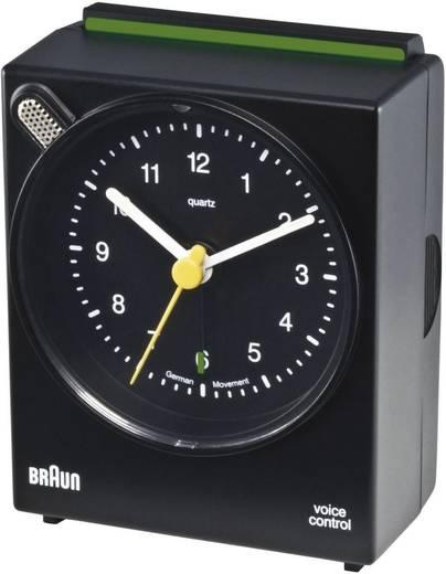 Braun Voice Controll analóg kvarc ébresztőóra, 63x76x34 mm, fekete