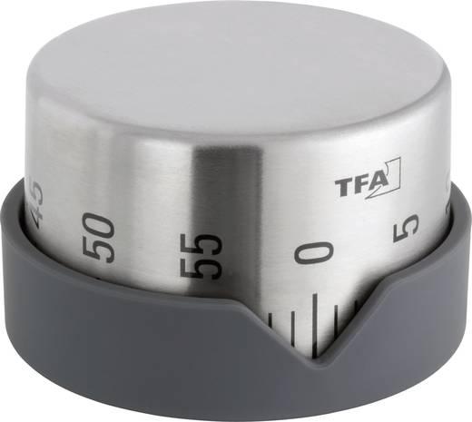 Mechanikus konyhai visszaszámláló óra, időzítő, Ø70x43 mm, TFA 38.1027.10