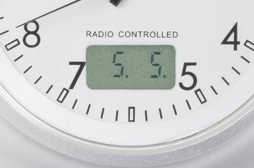 Eurochron EFAU 2403 analóg rádiójel vezérelt karóra, dátum kijelzés, Ø50x11 mm, alumínium szíj