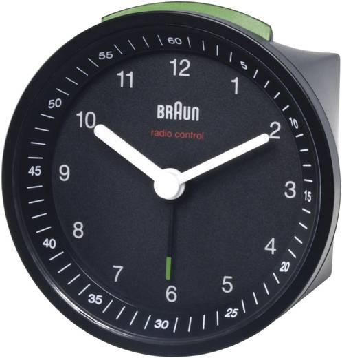 Braun rádiójel vezérelt ébresztőóra, 80 x 80 x 56 mm, fekete