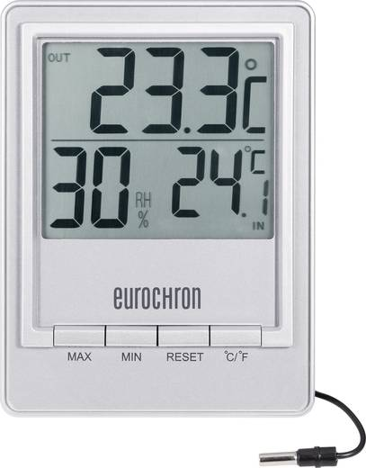 Eurochron digitális külső-belső hőmérő páratartalom mérővel, ETH 8003