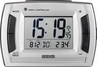 Eurochron EFW 9001 rádiójel vezérelt digitális ébresztőóra hőmérővel, 130x90x50 mm, ezüst, RC236 (RC 236) Eurochron