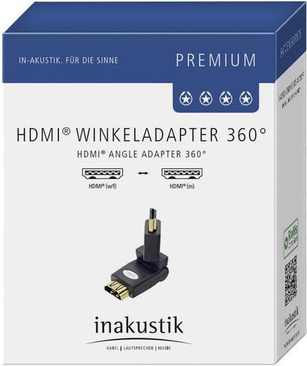 Hajlítható, forgathatő HDMI csatlakozó adapter, monitor csatlakozó Inakustik